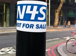 NHS- not for sale sign